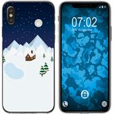 Apple iPhone Xs Max Silicone Case Christmas X Mas M6