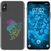 Apple iPhone Xs Max Silicone Case floral M4-4