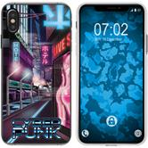 Apple iPhone Xs Max Silicone Case Retro Wave M4
