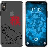 Apple iPhone Xs Max Custodia in Silicone Chinese Zodiac  M9
