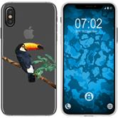 Apple iPhone Xs Max Silicone Case vector animals M5