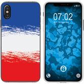 Apple iPhone Xs Max Funda de silicona WM Francia M5
