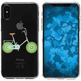 Apple iPhone X / XS Silicone Case Bike M1