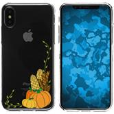 Apple iPhone X Silikon-Hülle Herbst  M5