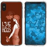 Apple iPhone X Silicone Case in Love M3