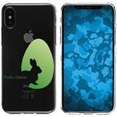 Apple iPhone X / XS Silicone Case Easter M2