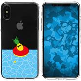 Apple iPhone X Silicone Case summer M2
