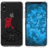 Apple iPhone X Silikon-Hülle Tierkreis Chinesisch  M1