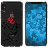 Apple iPhone X Silikon-Hülle Tierkreis Chinesisch  M10