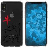 Apple iPhone X Silikon-Hülle Tierkreis Chinesisch  M2