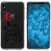 Apple iPhone X Silikon-Hülle Tierkreis Chinesisch  M5
