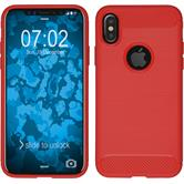 Silikon Hülle iPhone X Ultimate rot Case