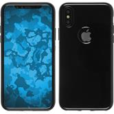 Silicone Case iPhone XS transparent black Case