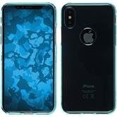 Silicone Case iPhone XS transparent turquoise Case