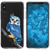 Apple iPhone X / XS Silicone Case vector animals M1