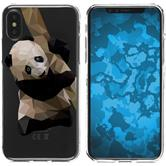 Apple iPhone X / XS Silicone Case vector animals Panda M4