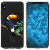 Apple iPhone X / XS Silicone Case vector animals M5