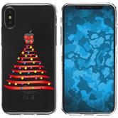 Apple iPhone X Silicone Case Christmas X Mas M1
