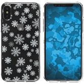 Apple iPhone X Silikon-Hülle X Mas Weihnachten  M2