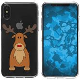 Apple iPhone X Silicone Case Christmas X Mas M3