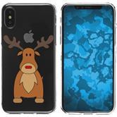 Apple iPhone X Custodia in Silicone Natale X Mas  M3