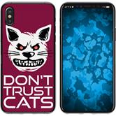 Apple iPhone X / XS Silicone Case Crazy Animals M1