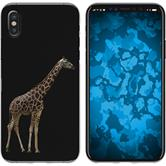 Apple iPhone X / XS Silicone Case vector animals M8