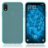 Silicone Case iPhone Xr transparent turquoise Case