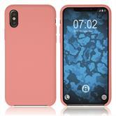 Silikon Hülle iPhone Xs Softshell-Case rosa Case