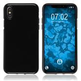 Silikon Hülle iPhone XS transparent schwarz Case