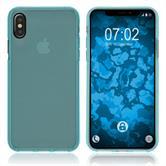 Silikon Hülle iPhone XS transparent türkis Case