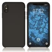 Silikon Hülle iPhone Xs Softshell-Case schwarz Case