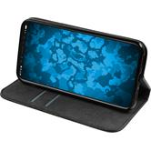 Artificial Leather Case iPhone X Bookstyle black Case