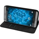 Artificial Leather Case for HTC Desire 530 Bookstyle black + protective foils