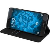 Artificial Leather Case for Huawei Honor 8 Bookstyle black + protective foils