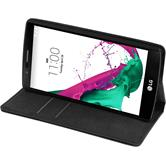 Artificial Leather Case for LG G4 Bookstyle black