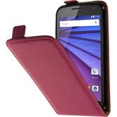 Artificial Leather Case for Motorola Moto G 2015 3. Generation Flip-Case hot pink