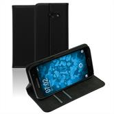 Artificial Leather Case Galaxy A3 2017 Bookstyle black + protective foils