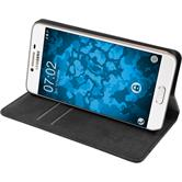Artificial Leather Case for Samsung Galaxy C5 Bookstyle black + protective foils