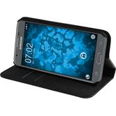 Artificial Leather Case Galaxy J3 Emerge Bookstyle black