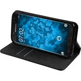 Artificial Leather Case Galaxy J7 2017 Bookstyle black + protective foils