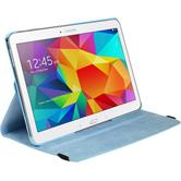 Artificial Leather Case for Samsung Galaxy Tab 4 10.1 360° light blue