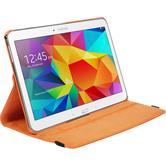 Artificial Leather Case for Samsung Galaxy Tab 4 10.1 360° orange