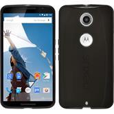Coque en Silicone pour Google Motorola Nexus 6 transparent noir