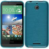 Coque en Silicone pour HTC Desire 510 brushed bleu