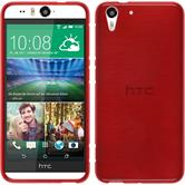 Coque en Silicone pour HTC Desire Eye brushed rouge