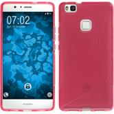 Coque en Silicone pour Huawei P9 Lite S-Style rose chaud