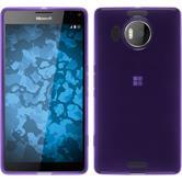 Coque en Silicone pour Microsoft Lumia 950 XL transparent pourpre