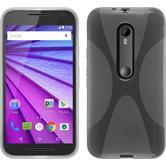 Coque en Silicone pour Motorola Moto G 2015 3. Generation X-Style transparent