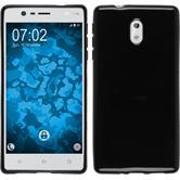 Coque en Silicone pour Nokia 3  noir